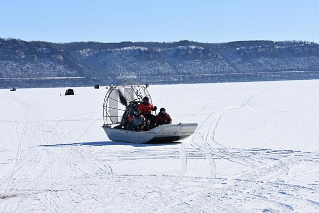 Lake Pepin ice testing