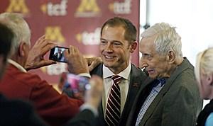 Fleck with Sid Hartman