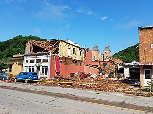 McGregor, Iowa tornado damage- NWS photo