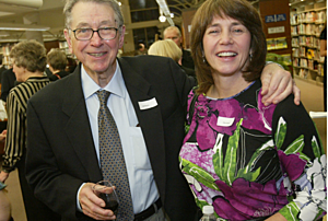 Bill Boyne and daughter Ellen enjoy themselves at the Rochester Public Library Foundation Fundraiser Wit, Wisdom and Wine event Saturday January 10, 2009. Scott Jacobson / Post-Bulletin