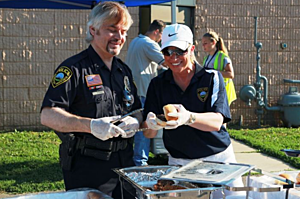 Rochester Police Chief Roger Peterson at National Night Out- RPD photo