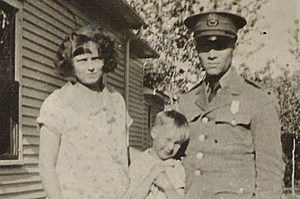 Laurence Doten, wife Clara and son Ted