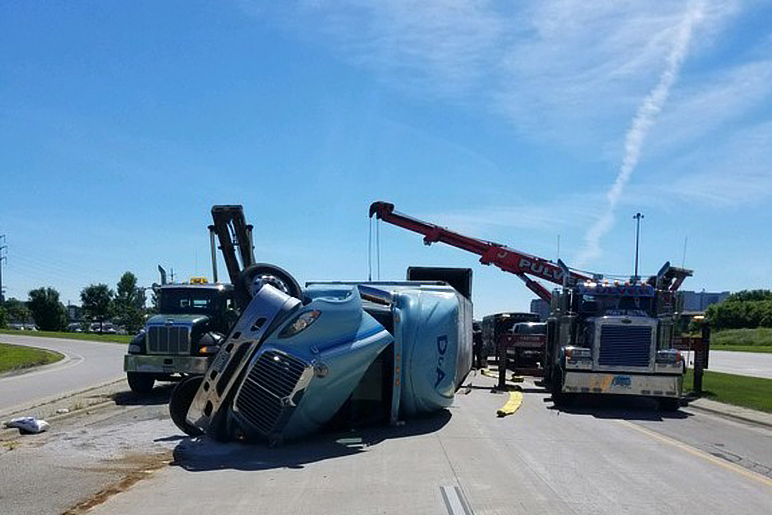 Traffic Mess Caused by Truck Crash at 52/14 Interchange   The Rock of Rochester