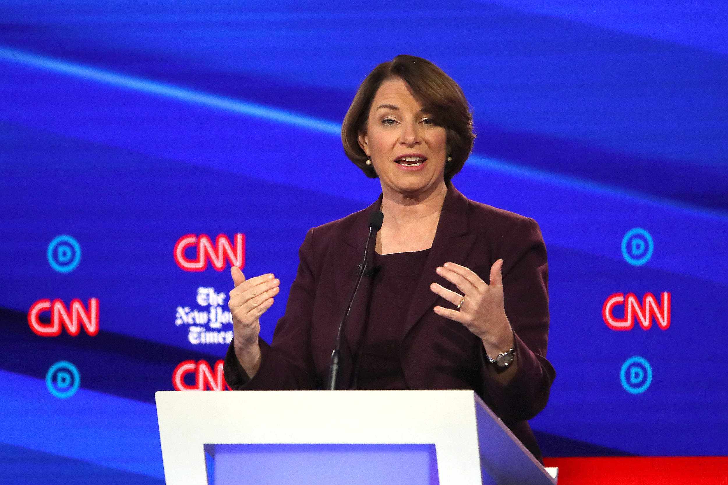 Debate Appearance Provided Boost to Klobuchar Campaign
