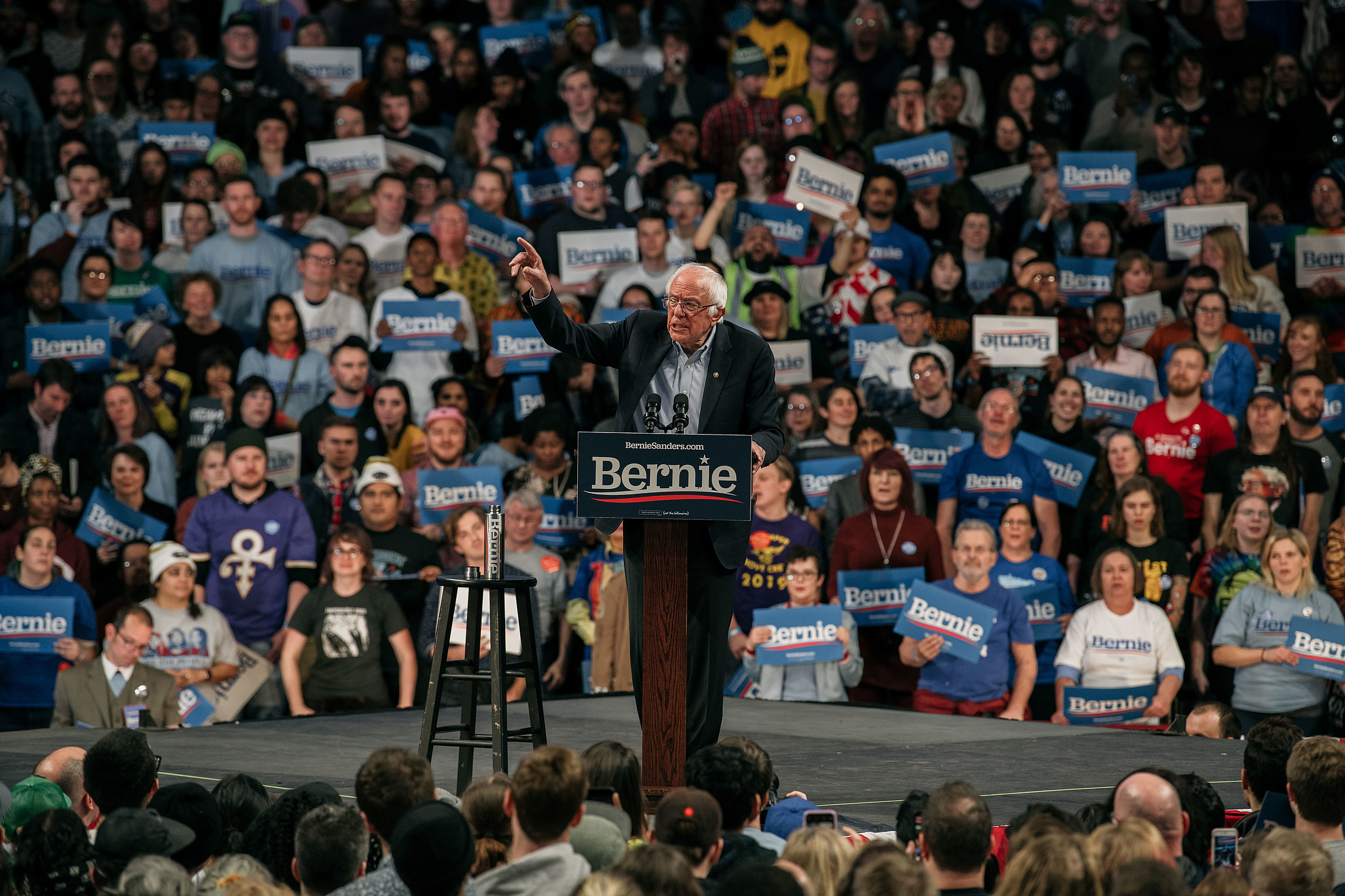Bernie Sanders Campaign Stop Draws Big Audience at Williams Arena